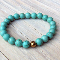 Howlite Beaded, Stretchy Bracelet, Gifts for Her, Gifts Under 15, Fall Jewelry, Friendship Bracelet, Tweens