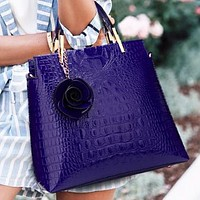 New fashion solid color leather crossbody bag shoulder bag handbag Purple