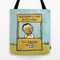 The Doctor Is In Tote Bag by Pixel Pop