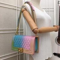 New CHANE SIZE 25*15*7cm Double C Women Leather silver and gold on Chain cross body bag Chane vintage Chanl jumbo Fashion Handbag Neverfull Tote Shoulder Bag Wallet Messenger Bags