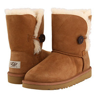 UGG Kids Bailey Button (Big Kid 2) Chestnut - Zappos.com Free Shipping BOTH Ways