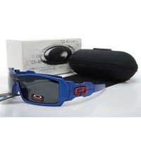 Ready Stock Original Oakley Sunglasses Unisex Eyeglass Blue Black Lens