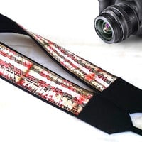 Musician Camera Strap. Gift For Musician. Notes Camera Strap. Accessories