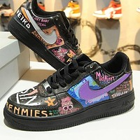 VLONE x Nike Air Force 1 Low AF1 Rock And Roll Graffiti 923092-100 Sport Shoes-1