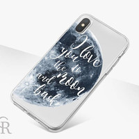 Moon Love Clear Phone Case - Clear Case - For iPhone 8 - iPhone X - iPhone 7 Plus - iPhone 6 - iPhone 6S - iPhone SE Transparent Samsung