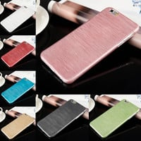 "7 Colors! Luxury Ultra Thin Crystal PC Brushed Hard Case Cover for iPhone 6 4.7""/6 PLUS 5.5 inch Phone Case Accessories"
