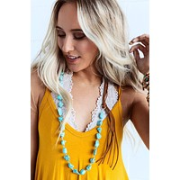 Be Free Turquoise Necklace - Turquoise