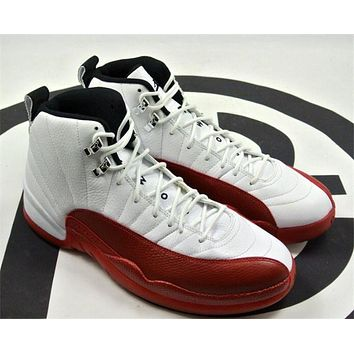 Air Jordan 12 Rising Sun while red Basketball Shoes 41-47