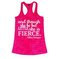 She Squats Clothing She is Fierce Burnout Gym Tank Top