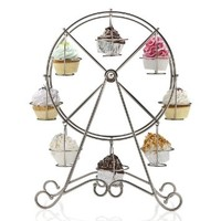 Home-X Rotating Ferris Wheel Cupcake and Dessert Server, for 8 Cupcakes