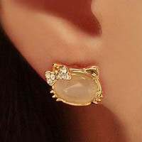 Hello Kitty Stone Earring's from Blessed Princess