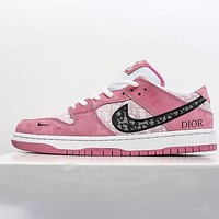alwayn Dior x Nike SB Dunk Low low-top breathable mesh flat sneakers shoes