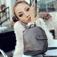 Korea Leather Vintage Classic Camera Bags Case Shoudler Bags Small Lomo Style xd