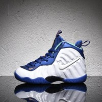 Nike Air Foamposite Pro White Royal Velcro Toddler Kid Shoes - Best Deal Online