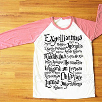 Magic Spell Harry Potter Magical Witchcraft T-Shirt Harry Potter Shirt Pink Sleeve Women Shirt Men Shirt Unisex Shirt Baseball Shirt S,M,L