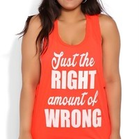 Plus Size Tunic Tank with Twist Back and Right Amount of Wrong Screen