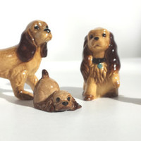 Hagen Renaker, Cocker Spaniel Miniatures, Hagen Renaker Dogs,  Collectible Miniatures, Dog Figurines