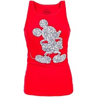 Mickey Mouse - Lace Mouse Juniors Tank Top