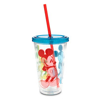 Mickey Mouse Tumbler with Straw - Summer Fun - Large