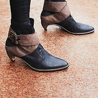 FP Collection Womens Night Raven Heel Boot