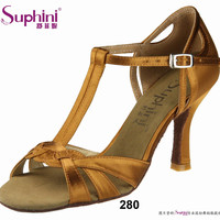 Free Shipping Suphini Simple Style Latin Shoes Black Woman Dance Shoes Social Dance Shoes