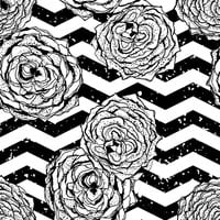 Chevron Hipster Flowers