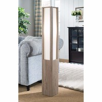 Alluring Floor Lamp With Dazzling Effect, Light Brown