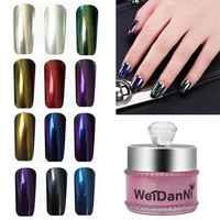 [US$12.27] 1pc Magic Mirror Chrome Effect Powder Metallic Nail Art Additive Pigment Charming Nail Art from Health & Beauty on banggood.com
