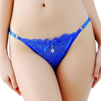 New Lady's Lace Underwear Women Panties Thongs Sexy Adjustable G-String Female Sexy Lace Panties Intimates