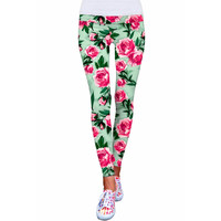Sweetheart Lucy Floral Print Performance Leggings - Women