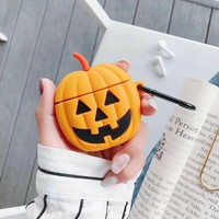 Pumpkin Face Protective Airpod Case