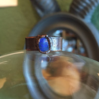 Blue Opal Stone Ring Size 7