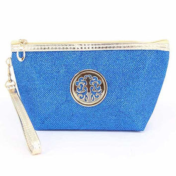 Cosmetic Bright Blue Travel Pouch   11cmhigh,17cmlong,7cmwide
