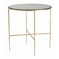 Arteriors Home Winchester Hammered Iron/Glass side Table - Arteriors Home 6754