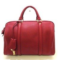 Auth LOUIS VUITTON SC Bag PM M96501 Cerise Parnassea Vaucasimir, Leather MI0133