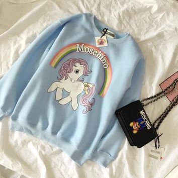 Moschino Fashion Casual Long Sleeve Sport Top Sweater Pullover Sweatshirt-7