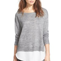 Women's ASTR Boatneck Layered Sweater,