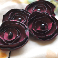 Black Friday Cyber Monday Weekend Sale Deep Plum Satin by SewRed