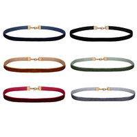 6 Pcs/Set Velvet Chokers Necklaces for Women Fashion Short Chocker Collares Jewelry New Fashion Style Simple Elements