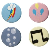 My Little Pony - Symbols 4 Piece Button Set