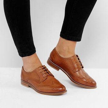 ASOS MOJITO Wide Fit Leather Brogues at asos.com