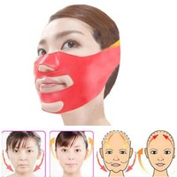 Silicone Thin Face Mask 3D V-line Lift Face Bandage Belt Slimming Facial Double Chin Skin Lifting Slim Massager Health Care 10