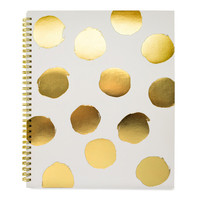Large Polka Dot Notebook, Grey
