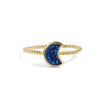 Moonbloom Blue Druzy Stacking Ring