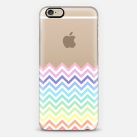 Dipped in Pastel Rainbow Chevron iPhone 6 case by Organic Saturation | Casetify