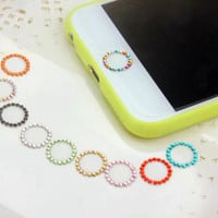 Diamond Crystal Home Button Sticker For iPhone 5S 6G 6 Plus Supporting Touch ID