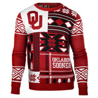 "Oklahoma Sooners Official NCAA Men's ""Ugly Patches"" Sweater by Klew"