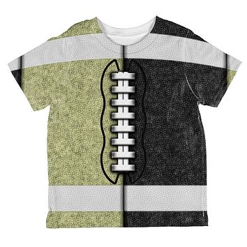 Fantasy Football Team Black and Gold All Over Toddler T Shirt
