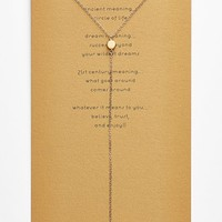 Women's Dogeared 'The Circle' Boxed Y-Necklace