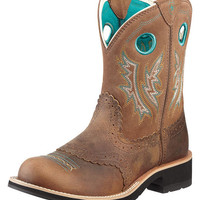 Ariat Women's Fatbaby Cowgirl Boot - Powder Brown/Tan